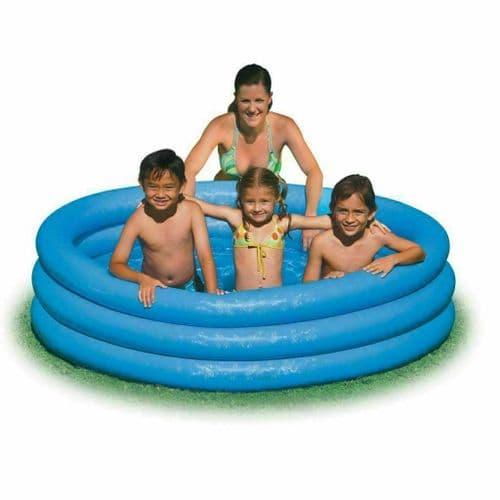 Intex 58446NP 1.68m x 38cm Inflatable Paddling Pool, Swimming Pool Crystal Blue